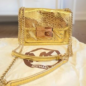 Michael Kors Small Sloan Python Shoulder Bag